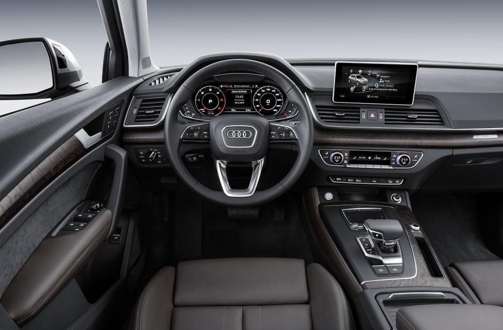 Салон Audi Q5 (Ауди Q5) кроссовер 2017