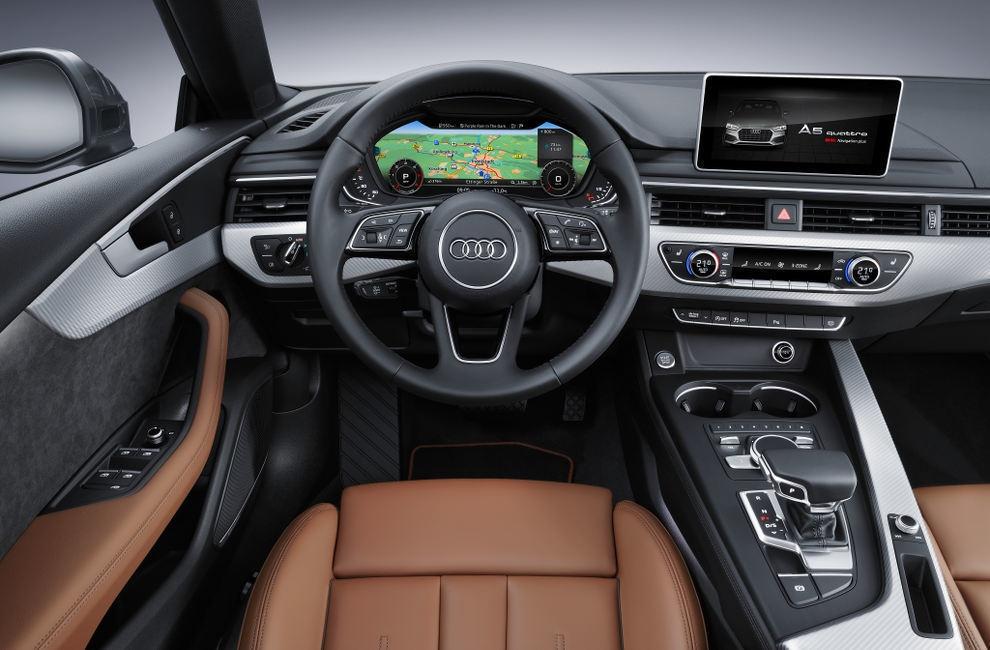 Интерьер салон Audi A5 Sportback (Ауди А5 Спортбэк) 2017 хэтчбек
